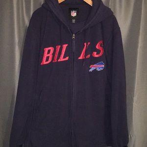 NFL Buffalo Bills fleece zip up men's XXL